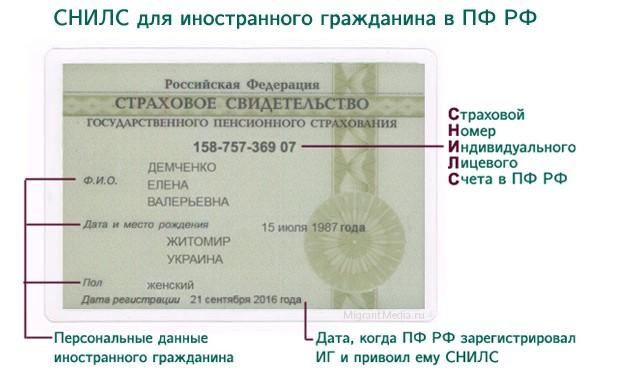 Как получить СНИЛС гражданину Армении в России (+ в Москве, СПБ) в 2018